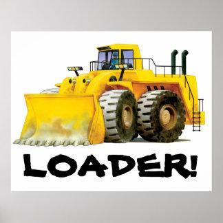 El gigante embroma el camión picador amarillo de póster