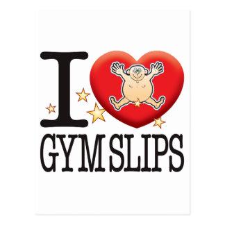 El gimnasio desliza al hombre del amor tarjetas postales