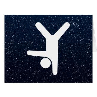 El gimnasio equilibra mínimo tarjeta de felicitación grande