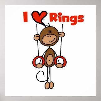 El gimnasta ama los anillos póster