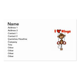 El gimnasta ama los anillos tarjeta de visita