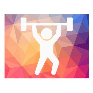 El gimnasta carga el icono tarjetas postales