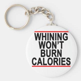El gimoteo no quemará las calorías T-Shirts.png Llavero Redondo Tipo Chapa