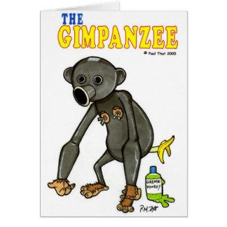 El Gimpanzee Tarjeta De Felicitación