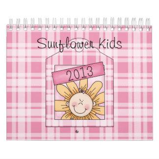 El girasol 2013 embroma pequeño calendarios