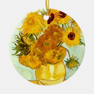 El girasol amarillo de Vincent van Gogh que pinta Adorno De Reyes