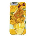 El girasol amarillo de Vincent van Gogh que pinta Funda De iPhone 6 Barely There