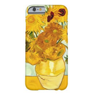 El girasol amarillo de Vincent van Gogh que pinta Funda Para iPhone 6 Barely There