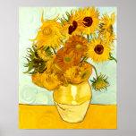 El girasol amarillo de Vincent van Gogh que pinta  Impresiones