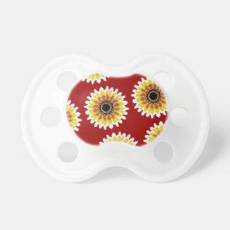 El girasol blanco amarillo rojo colorido borda mir chupete