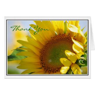 El girasol le agradece cardar tarjeta de felicitación