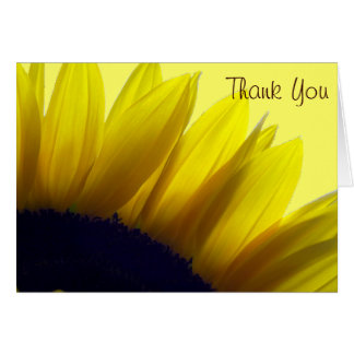 El girasol le agradece las tarjetas (el mensaje de