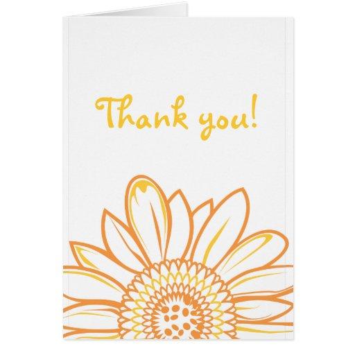 El girasol le agradece observar tarjeta de felicitación