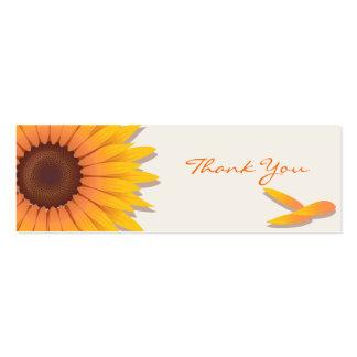 El girasol le agradece tarjeta de encargo plantilla de tarjeta personal