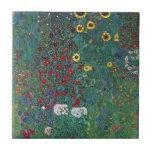 El girasol por Klimt, vintage de Farmergarden w Tejas