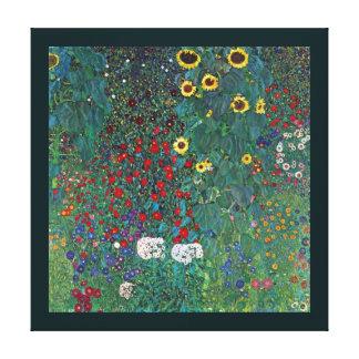 El girasol por Klimt, vintage de Farmergarden w Impresiones En Lienzo Estiradas