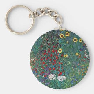 El girasol por Klimt, vintage de Farmergarden w Llavero Redondo Tipo Pin