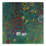 El girasol por Klimt, vintage de Farmergarden w Poster