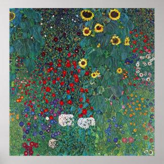 El girasol por Klimt vintage de Farmergarden w Poster