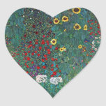 El girasol por Klimt, vintage de Farmergarden w Colcomanias Corazon Personalizadas