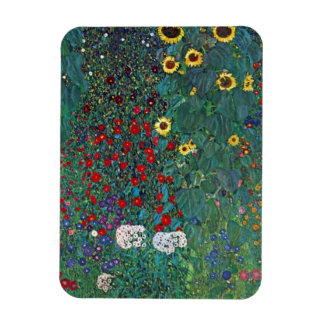 El girasol por Klimt, vintage de Farmergarden w Rectangle Magnet