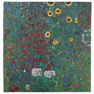 El girasol por Klimt, vintage de Farmergarden w Servilletas