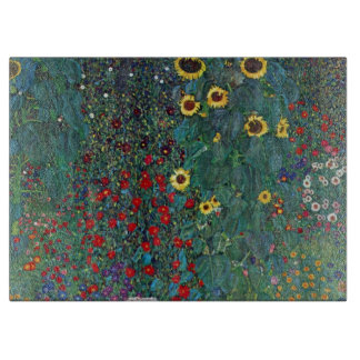 El girasol por Klimt, vintage de Farmergarden w Tablas Para Cortar