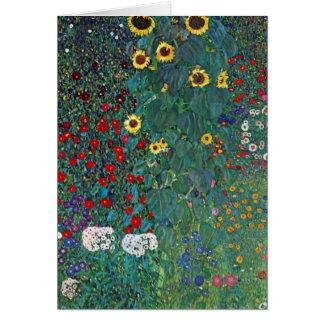 El girasol por Klimt, vintage de Farmergarden w Tarjeta De Felicitación