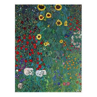 El girasol por Klimt, vintage de Farmergarden w Postal