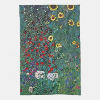 El girasol por Klimt, vintage de Farmergarden w Toallas De Cocina