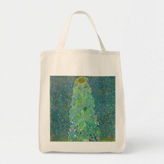 El girasol por Klimt, vintage florece el arte Bolsa