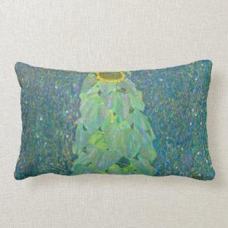 El girasol por Klimt, vintage florece el arte Almohadas