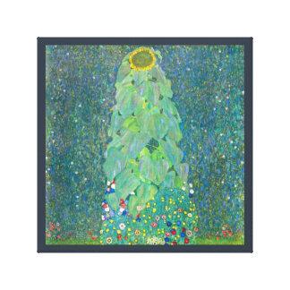 El girasol por Klimt, vintage florece el arte Impresiones De Lienzo