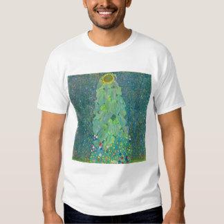 El girasol por Klimt, vintage florece el arte Playeras