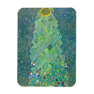 El girasol por Klimt, vintage florece el arte Rectangle Magnet