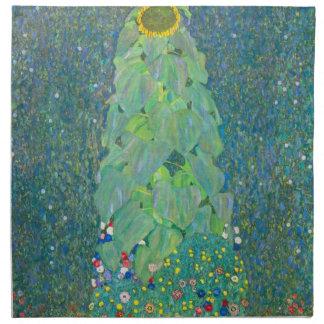 El girasol por Klimt, vintage florece el arte Servilletas