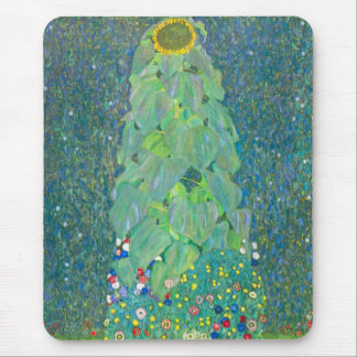 El girasol por Klimt vintage florece el arte Tapetes De Ratón