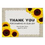 El girasol rústico le agradece sunflower1 tarjetas