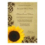 El girasol rústico remolina boda invitaciones personalizada