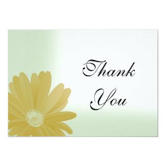 """El girasol soleado en verde le agradece tarjeta de invitación 5"""" x 7"""""""