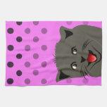 El girl_pink_desing dot_baby de Cat_polka Toalla De Cocina