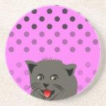 El girl_pink_desing dot_baby de Cat_polka Posavasos Diseño