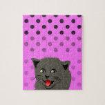 El girl_pink_desing dot_baby de Cat_polka Rompecabeza Con Fotos