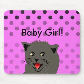 El girl_pink_desing dot_baby de Cat_polka Tapetes De Raton