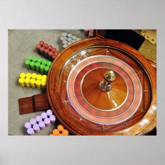 el giro de la rueda de ruleta del casino gira el j impresiones