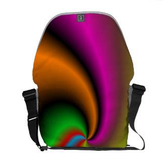El giro forma el modelo bolsa de mensajeria