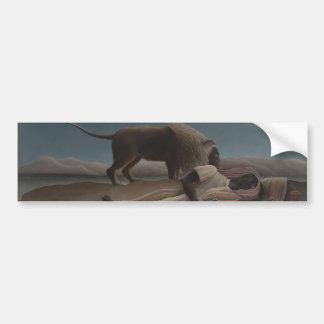 El gitano durmiente de Henri Rousseau Pegatina Para Auto