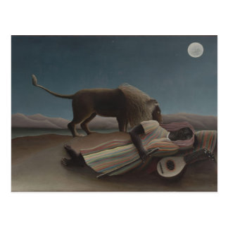 El gitano durmiente de Henri Rousseau Tarjetas Postales