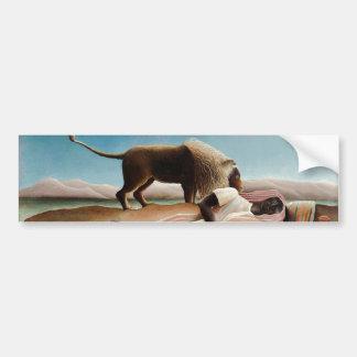 """""""El gitano durmiente"""" de Rousseau (1897) Pegatina Para Auto"""