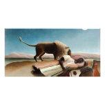 """""""El gitano durmiente"""" de Rousseau (1897) Tarjeta Con Foto Personalizada"""